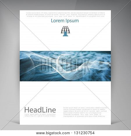 Abstract vector modern flyers brochure. Business brochure flyer design layout template in A4.