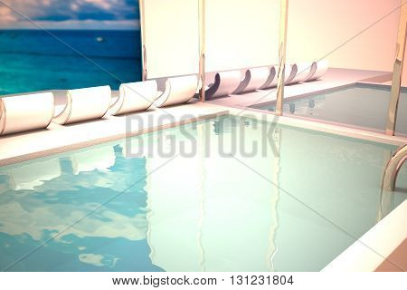 Pool With Chaise Longues