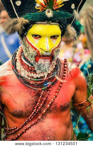 Pose In Papua New Guinea
