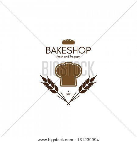 Vintage logotype for bakery and bread shop. Food and drinks logotype symbol design.