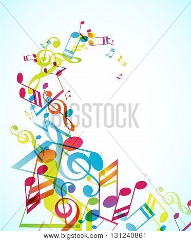 Abstract background with swirl tunes. Vector art