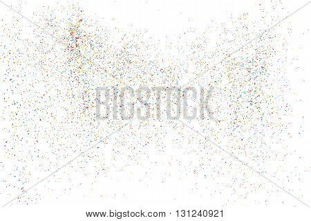 Colorful Explosion Of Confetti. Colorful Grainy Texture Bitmap.