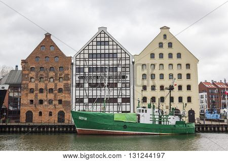 GDANSK, POLAND - DECEMBER 26: National Maritime Museum located in a historic granaries on December 26, 2011 in Gdansk.