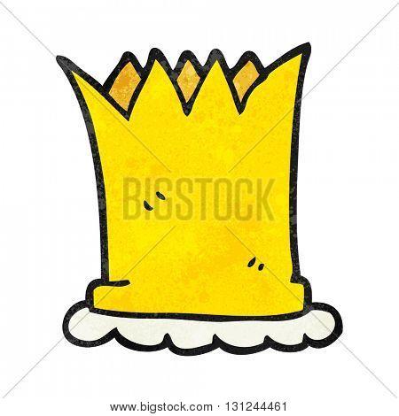 freehand textured cartoon crown