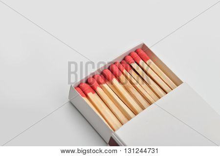 Empty Paper Matchbox With Wooden Matches On It. Matchbook Case Photo Image Ready For Write Your Text