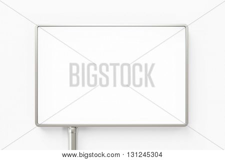 Empty magnifying glass from above on white desk (3D Rendering)