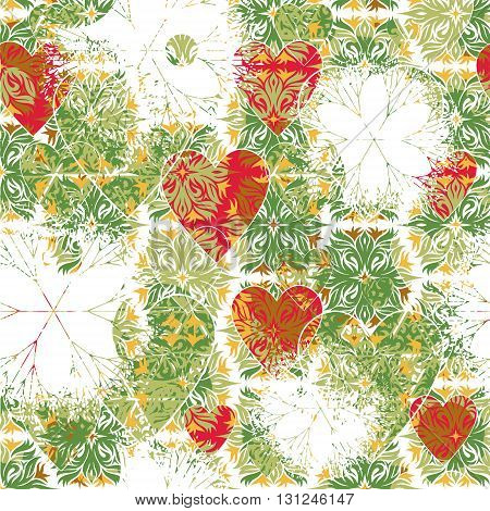 Seamless pattern patterned in the form of square tiles