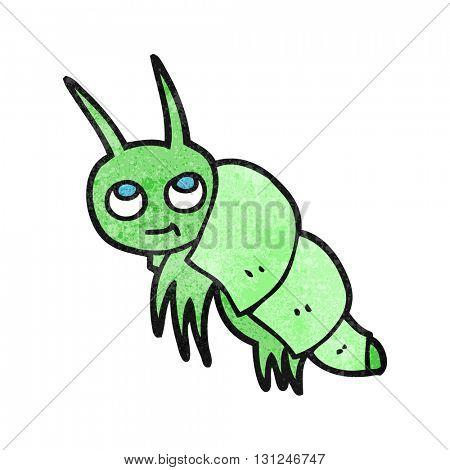 freehand textured cartoon little bug