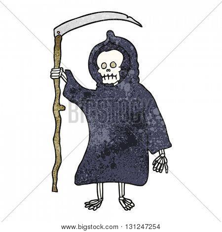 freehand textured cartoon spooky death figure