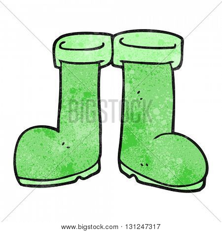 freehand textured cartoon wellington boots