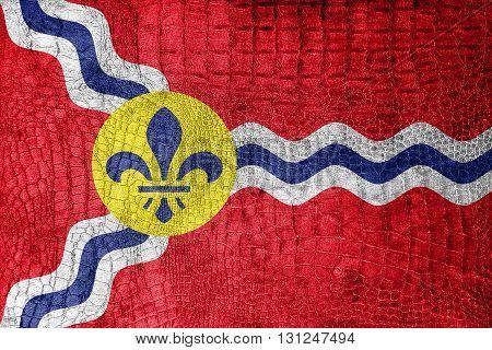 Flag Of St. Louis, Missouri, On A Luxurious, Fashionable Canvas