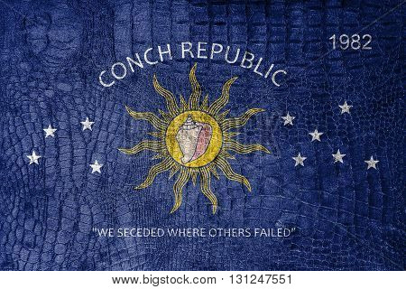 Flag Of The Conch Republic (key West, Florida), On A Luxurious,
