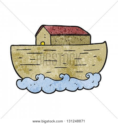 freehand textured cartoon noah's ark