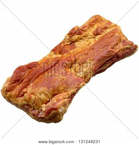 Brisket meat beef raw food red isolated white ingredient background.