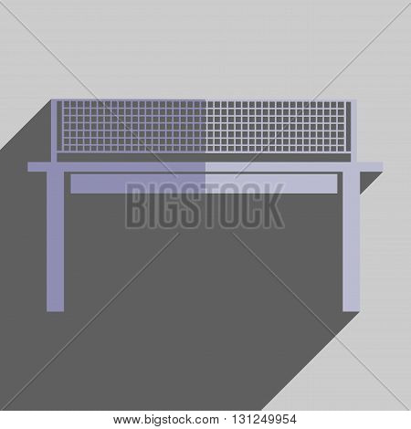 Flat icons with shadow of tennis table. Vector illustration