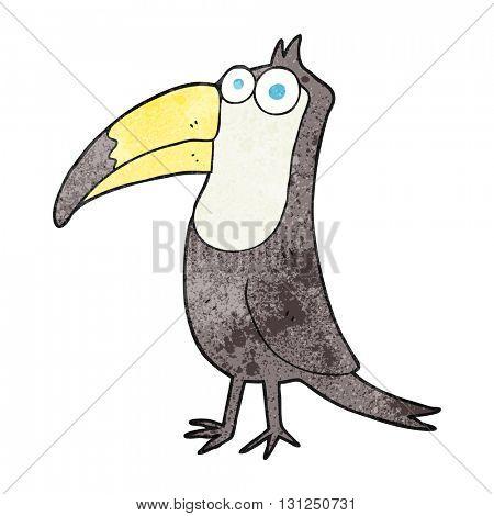freehand textured cartoon toucan