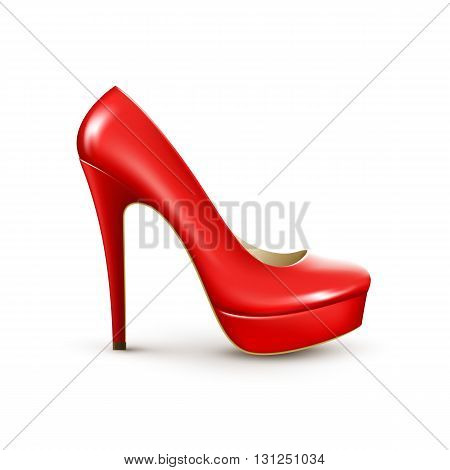 Women fashion shoes. Vector detailed realistic illustration EPS10