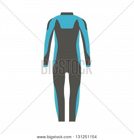 Man Wetsuit Vector Illustration