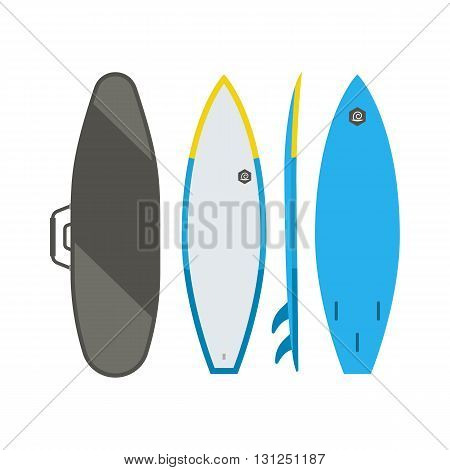 Surfing Board Vector Set