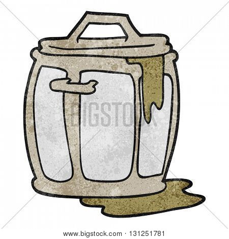 freehand textured cartoon dirty garbage can