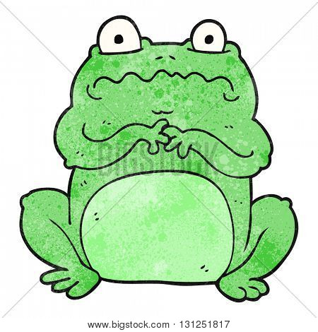 freehand textured cartoon funny frog