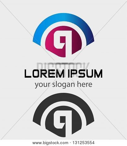 Letter Q Logo Design.Creative Symbol of letter Q
