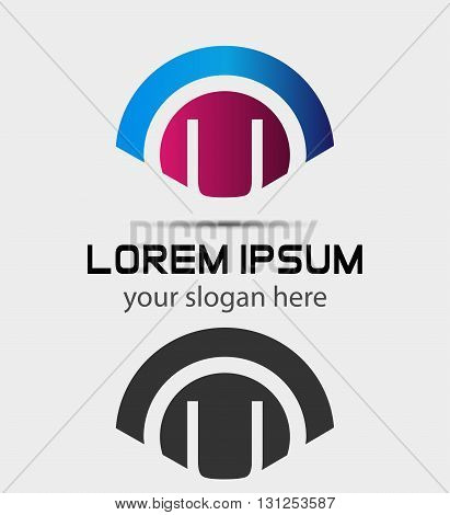 Letter U Logo Design.Creative Symbol of letter U