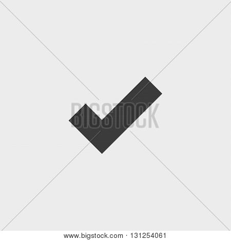 Sign select icon in a flat design in black color. Vector illustration eps10