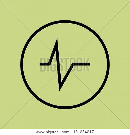 Pulse Icon In Vector Format. Premium Quality Pulse Symbol. Web Graphic Pulse Sign On Green Circle Ba