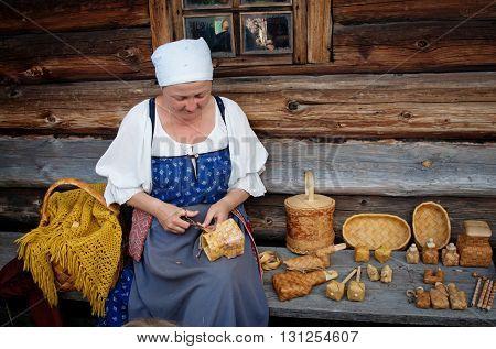 Women In Traditional Russian Costume On Kizhi Island, Karelia, Russia.