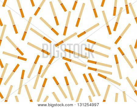 Seamless pattern with cigarettes. Abstract background. Vector illustration.