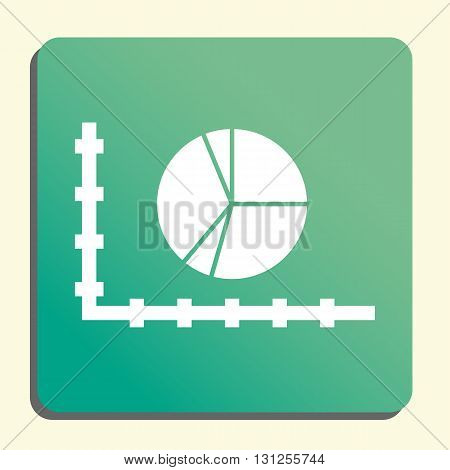 Pie Chart Icon In Vector Format. Premium Quality Pie Chart Symbol. Web Graphic Pie Chart Sign On Gre