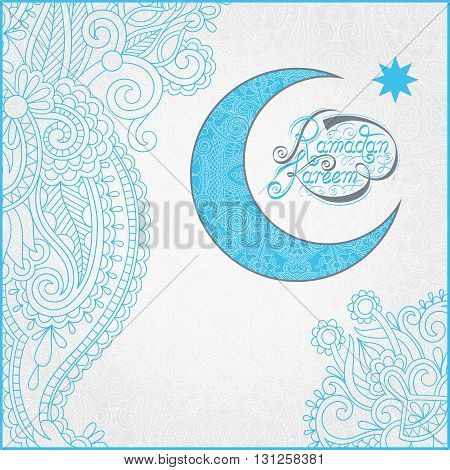 decorative design for holy month of muslim community festival Ramadan Kareem, invitation card, vector illustration