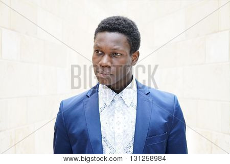 portrait of a young man of african descent