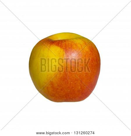 Large red and yellow Apple isolated on white background . Useful vitamin food for diet. Juicy apples for dessert. Healthy fruit. Still life of ripe apples.