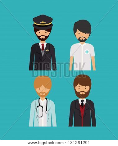 professional men design, vector illustration eps10 graphic