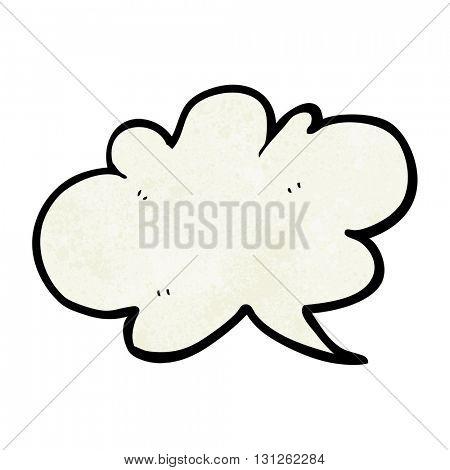 freehand textured cartoon cloud speech bubble