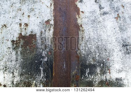 Texture of the old rusty iron sheet