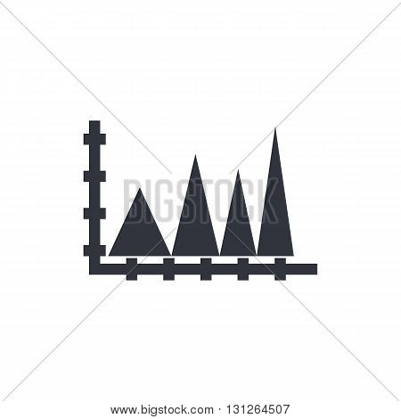 Triangle Icon In Vector Format. Premium Quality Triangle Symbol. Web Graphic Triangle Sign On White