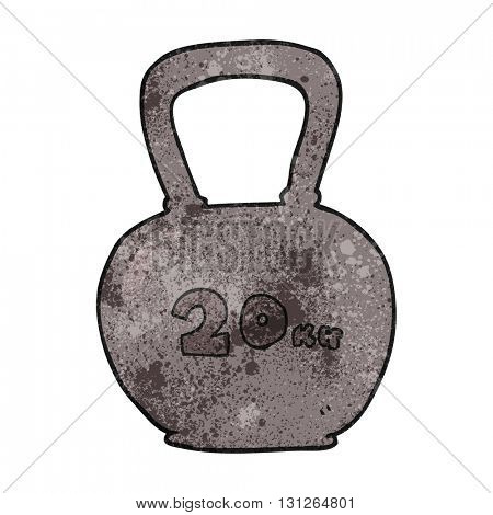 freehand textured cartoon 20kg kettle bell