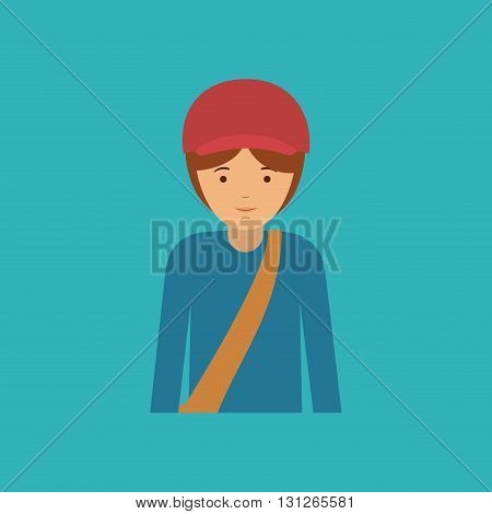 mail man design, vector illustration eps10 graphic