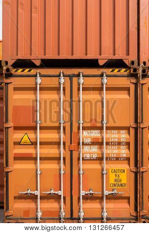 Stack of container ship yard, Storage yard.