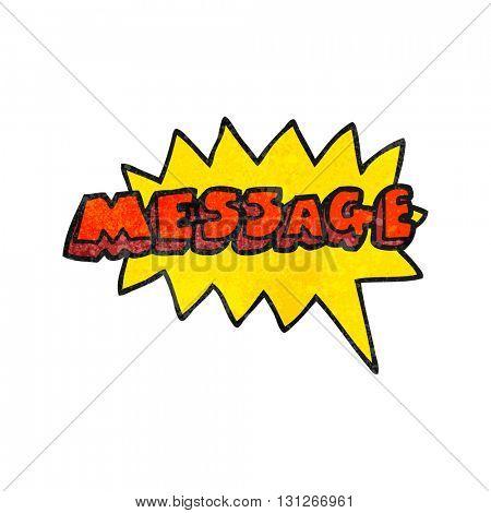 freehand textured cartoon message text