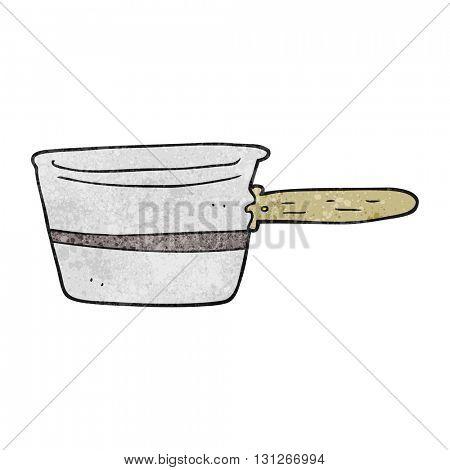 freehand textured cartoon saucepan
