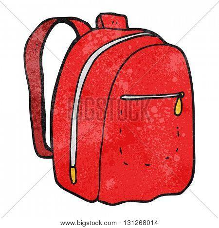 freehand textured cartoon rucksack