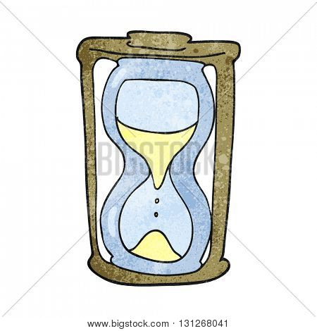freehand textured cartoon hourglass