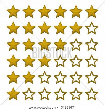Simple Rating Stars on White background. Vector illustration