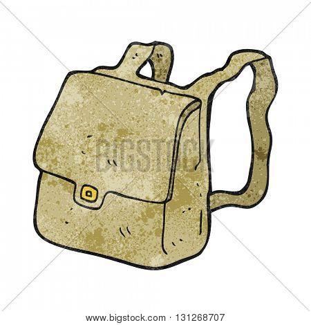 freehand textured cartoon satchel