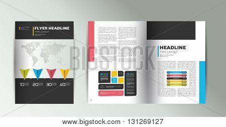 Brochure, flyer design. Cover concept. Vector design.
