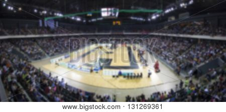 Defocused background of sports arena and crowd